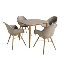 B7 Club collection Chamonix Diningset 90x90 cm.