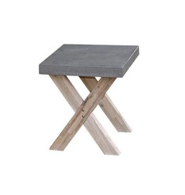 B7 Club collection Ramatuelle Footstool cross leg 50X40 cm.