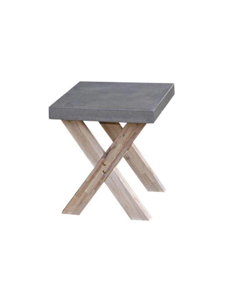 B7 Club collection Ramatuelle Footstool cross leg 50X40 cm.