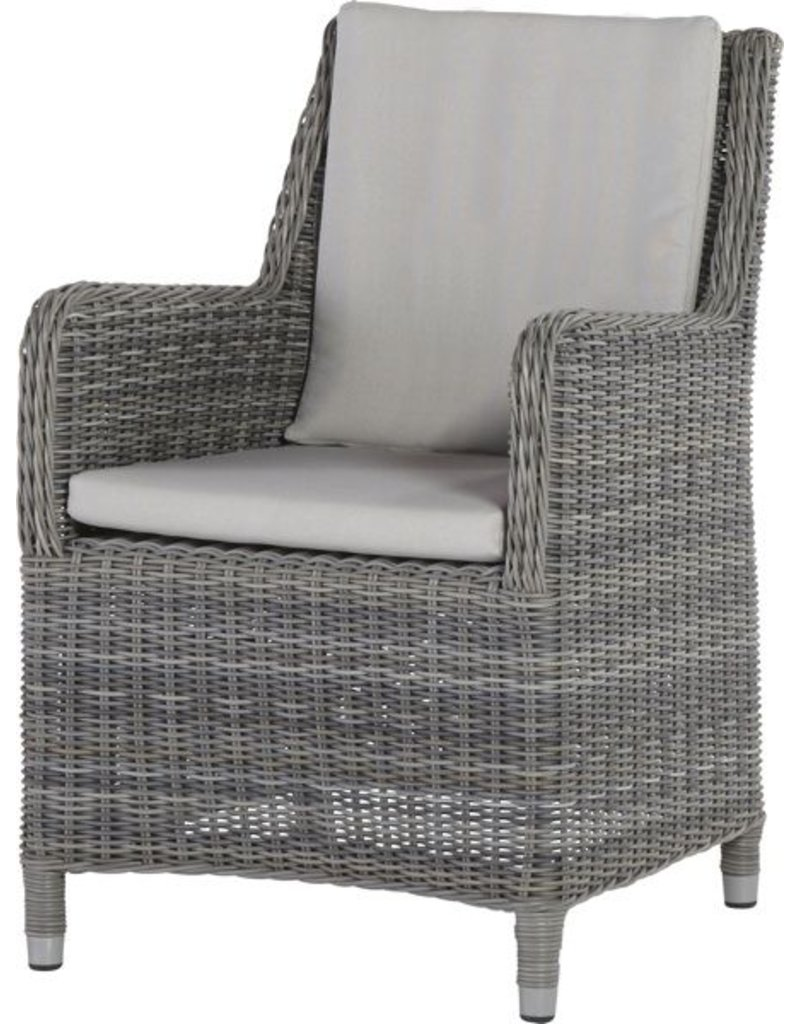 4 Seasons Outdoor 4 Seasons Outdoor diningchair Indigo in Ice wicker