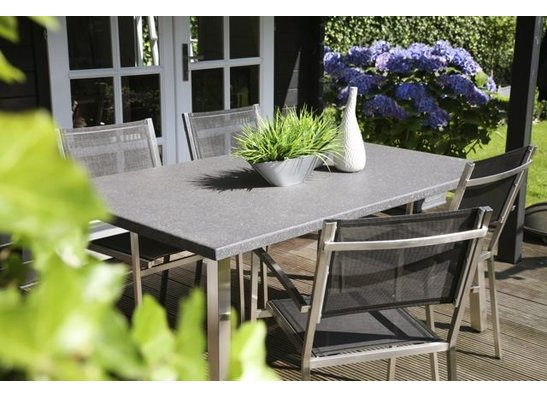 tuinset hout rvs