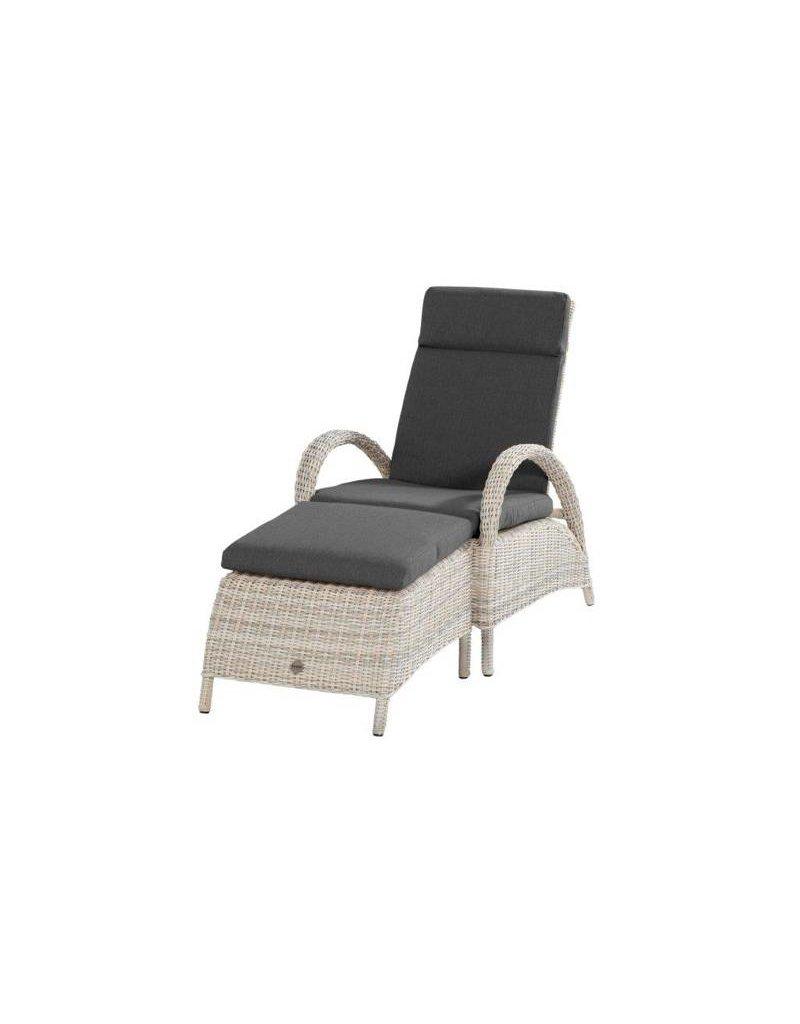 Casa Outdoor Rimini Relaxchair + Footstool in Elzas