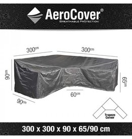 Areo Cover Beschermhoes L/Trapeze 300X300X90XH65/90HB