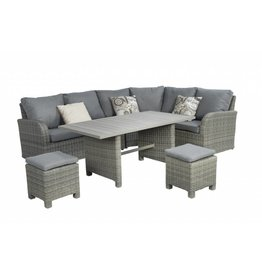 Garden Deals Bandung lounge- diningset small Kooboo