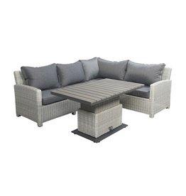 Beach7 Birdwood loungeset / verstelbare tafel