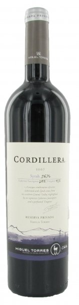 Torres Cordillera Syrah, 2008, Central Valley Region, Chili, Rode Wijn