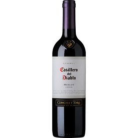 Casillero del Diablo Merlot, Central Valley, Chili, Vin rouge