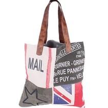 "Canvas Vintage Shopper XL ""Flag"""