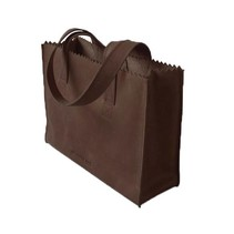 My Paper Bag Handbag Dark Chocolate met rits