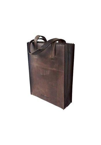 MYOMY My Paper Bag Long Handle Dark Chocolate