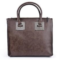 handtas met schouderriem bruin
