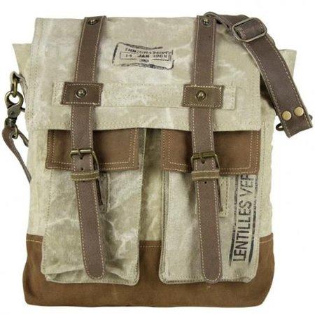 SUNSA Vintage messenger tas