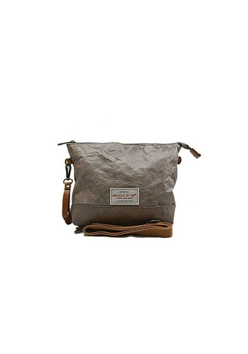 Malique by me Waxed Paper bag taupe
