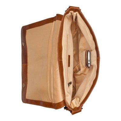 BURKELY Vintage Juul Messenger laptoptas 14 inch cognac