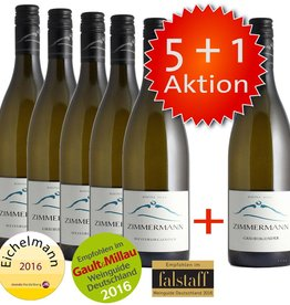 Weingut Zimmermann 5+1 Aktion: 3 Grauburgunder + 3 Weißburgunder Rhine Hill QbA trocken 2015 Markgräfler Wein - Weingut Zimmermann