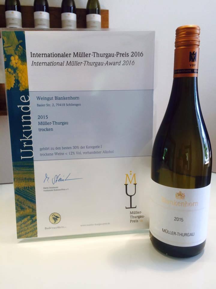 Weingut Blankenhorn VDP 20% Rabatt: Müller-Thurgau VDP.Gutswein trocken 2015 vom Weingut Blankenhorn - Internationaler Müller-Thurgau-Preis 2016