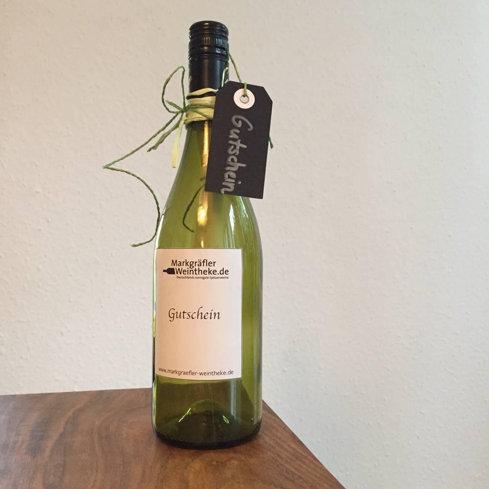 """Wein Geschenkgutschein """"Flaschenpost"""" 25 - 200 €"""