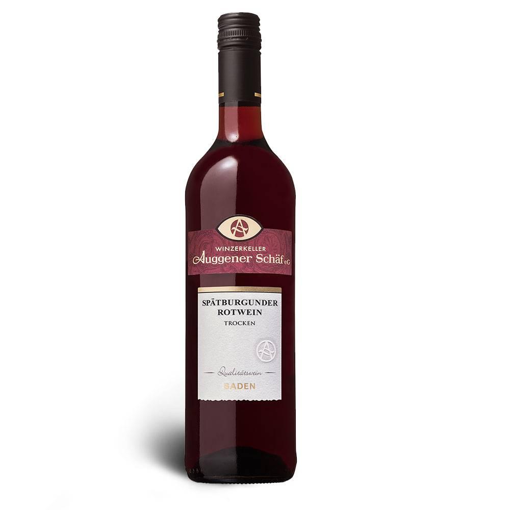 Winzerkeller Auggener Schäf Spätburgunder Rotwein (Pinot Noir), Qualitätswein trocken 2016 - Winzerkeller Auggener Schäf