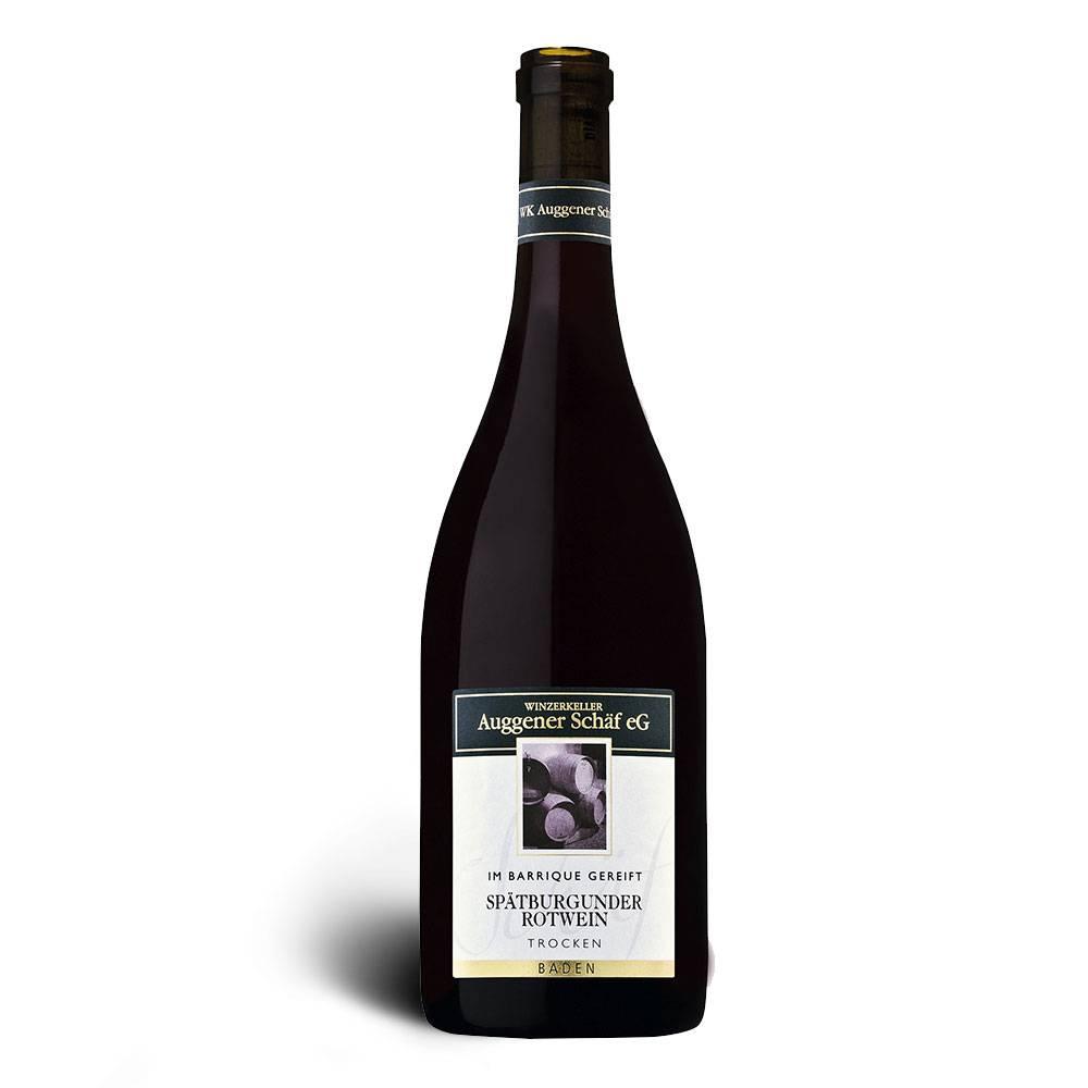 Winzerkeller Auggener Schäf Spätburgunder Rotwein, Qualitätswein trocken, Barrique 2015/2016 - Winzerkeller Auggener Schäf