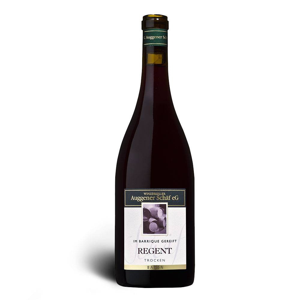 Winzerkeller Auggener Schäf Regent Rotwein, Qualitätswein trocken, Barrique 2015 - Winzerkeller Auggener Schäf