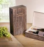 "Holz Wein-Geschenkbox ""In vino veritas"""