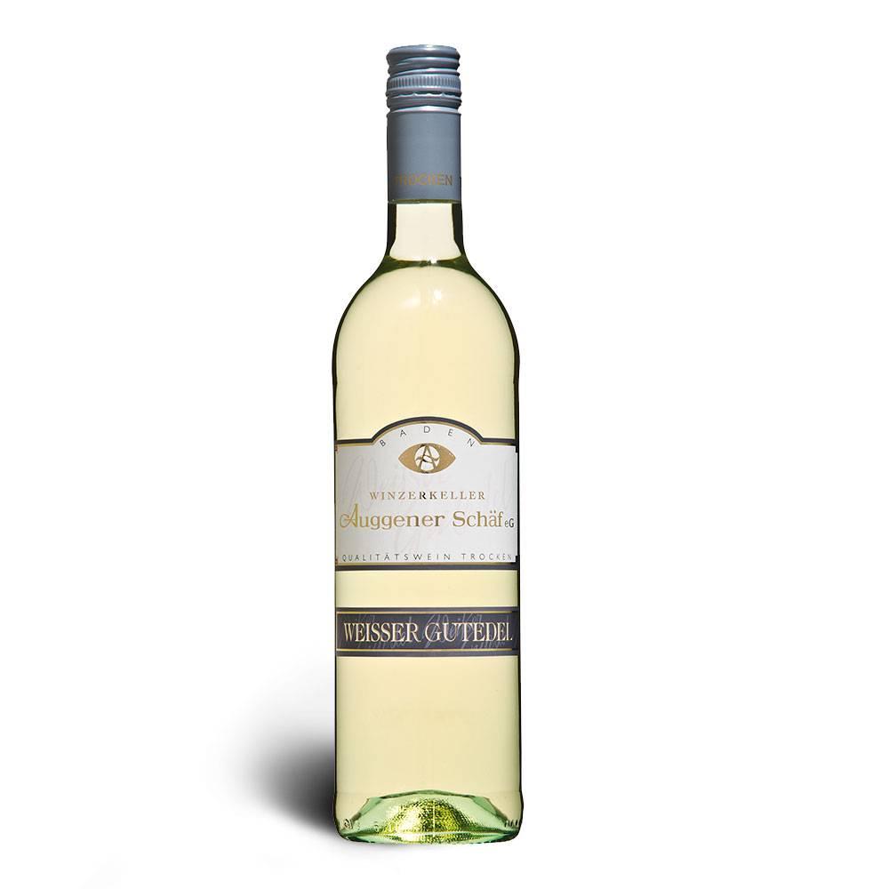 Winzerkeller Auggener Schäf Weißer Gutedel Qualitätswein trocken, Kaltgärung 2016 - Winzerkeller Auggener Schäf