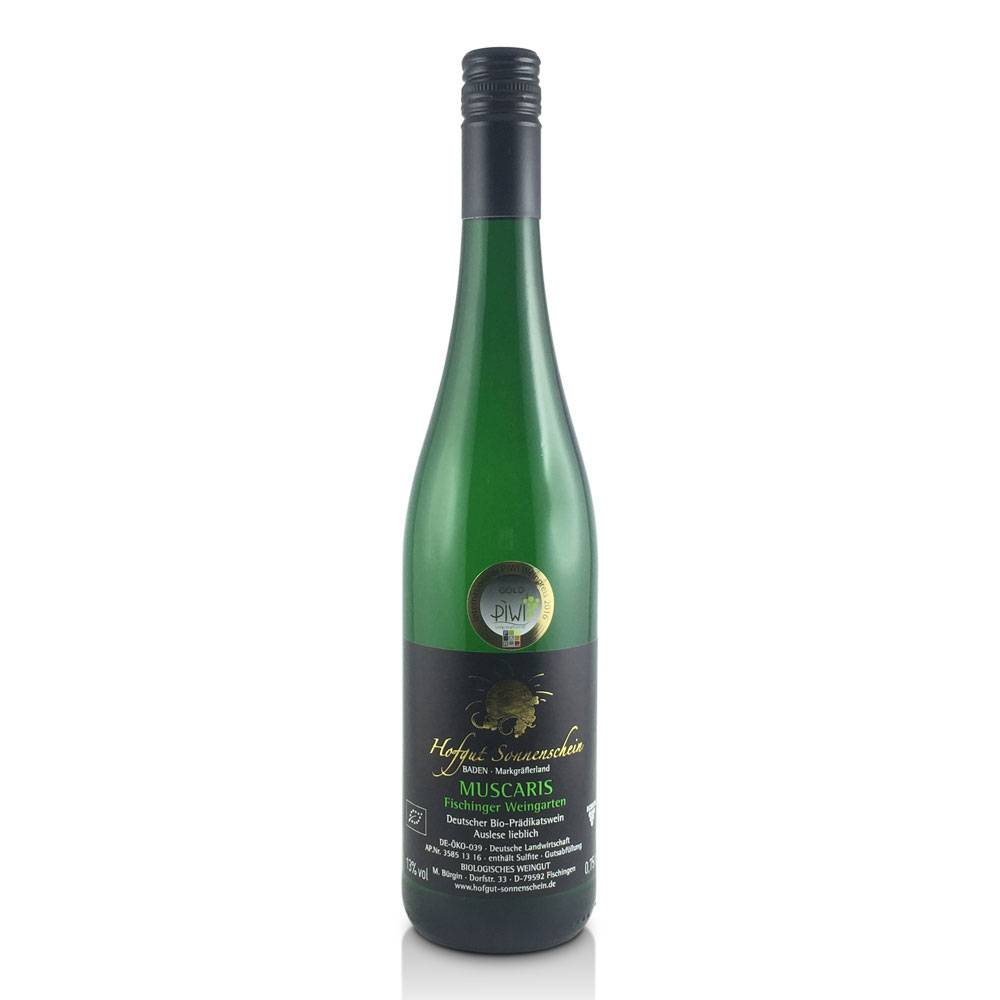 Hofgut Sonnenschein Muscaris - Auslese lieblich - Internationaler PiWi-Weinpreis 2016 GOLD - Hofgut Sonnenschein
