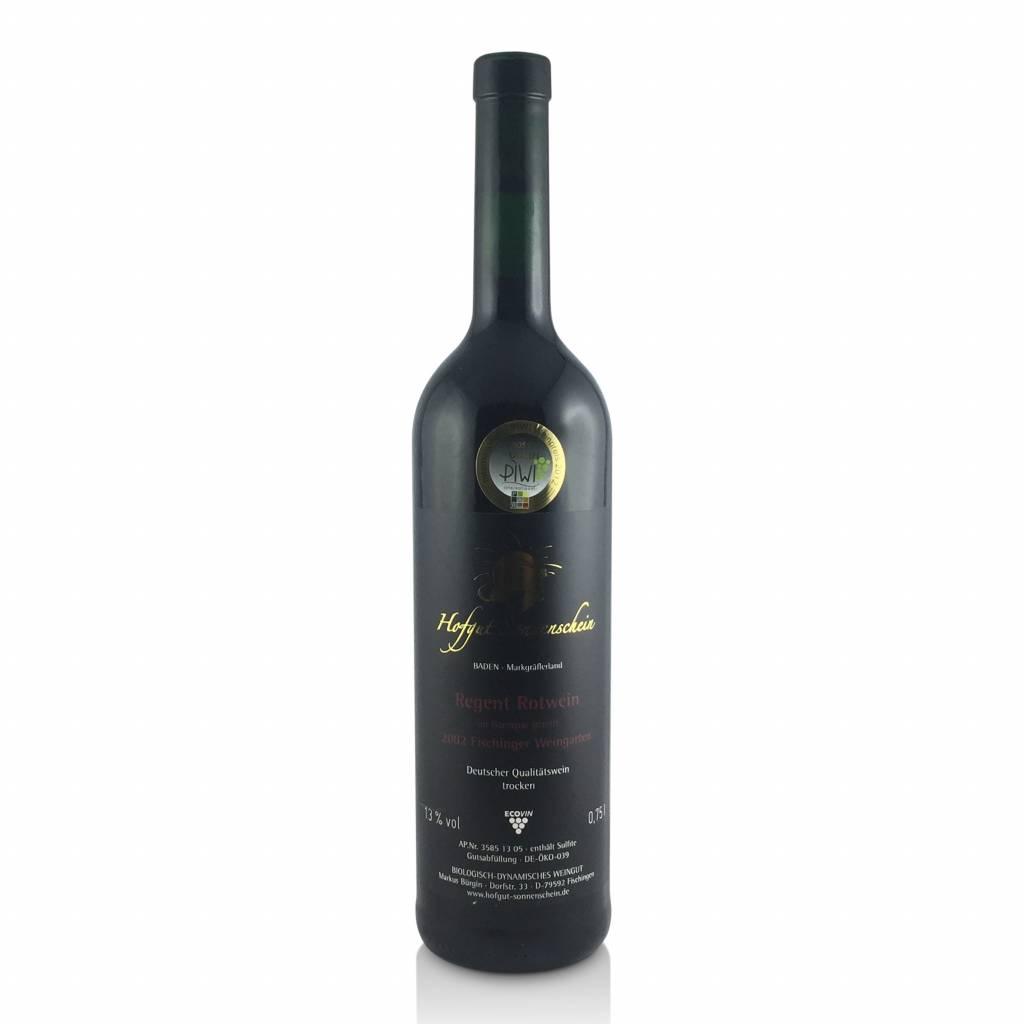 Hofgut Sonnenschein Regent Rotwein 2002, Barrique QbA trocken  - Hofgut Sonnenschein
