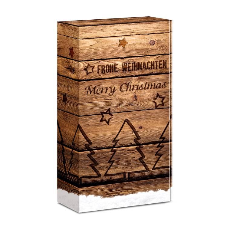 """""""Holzkiste Weihnachten"""" Präsentkarton 2er & 3er ... Weingeschenkkarton"""