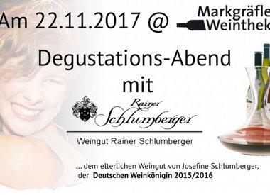 22.11.2017 - Degustationsabend mit dem Weingut Rainer Schlumberger