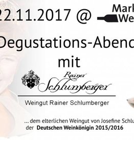 Weingut Rainer Schlumberger Degustationsabend mit dem Weingut Rainer Schlumberger