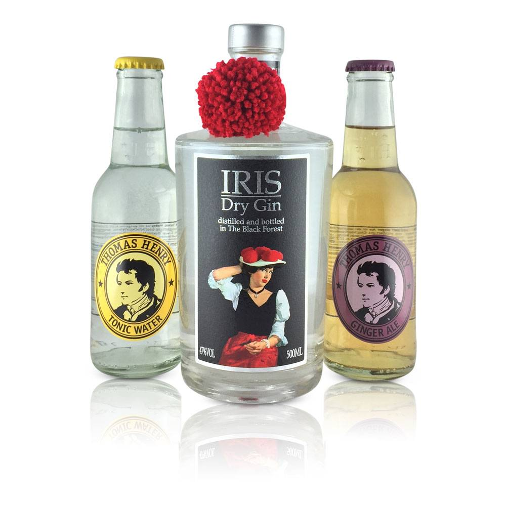 "Gin-Tonic Geschenkset ""Iris""  mit IRIS Longon Dry Gin"