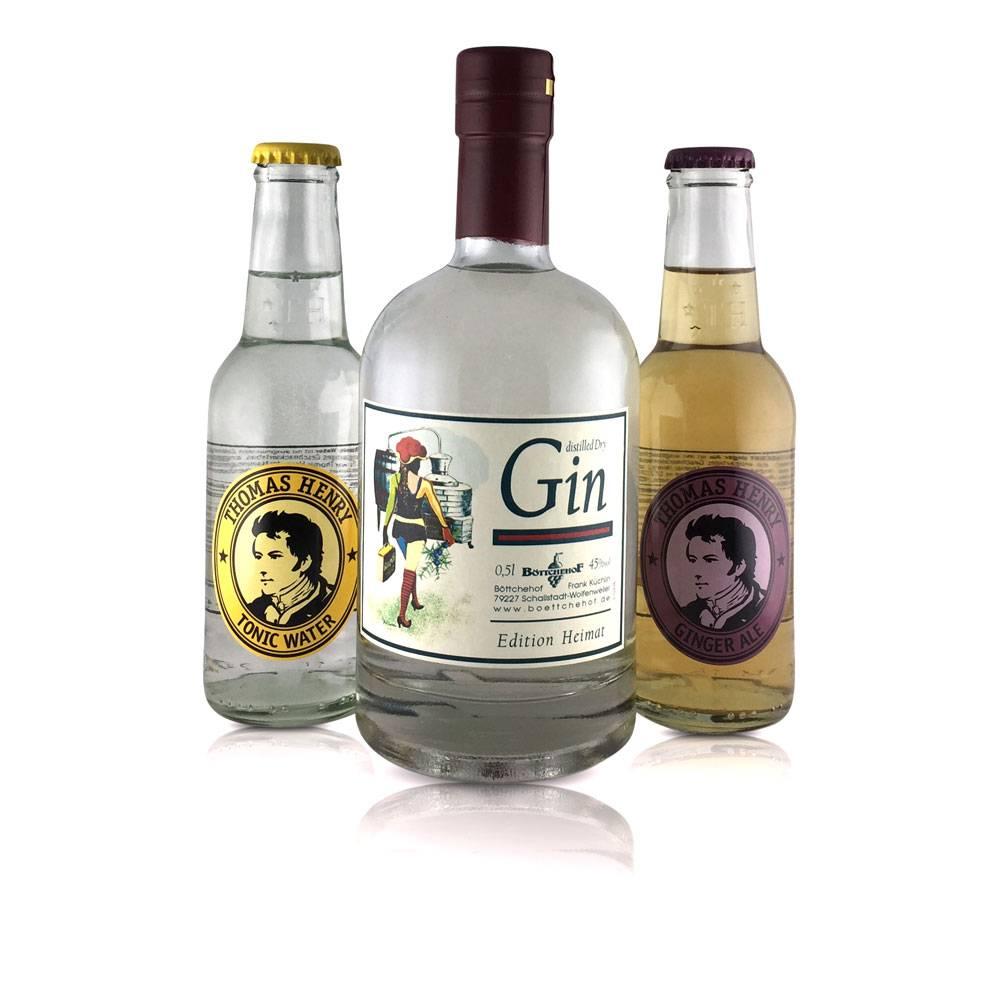 """Gin-Tonic Geschenkset """"HEIMAT""""  mit HEIMAT Gin vom Böttchehof"""