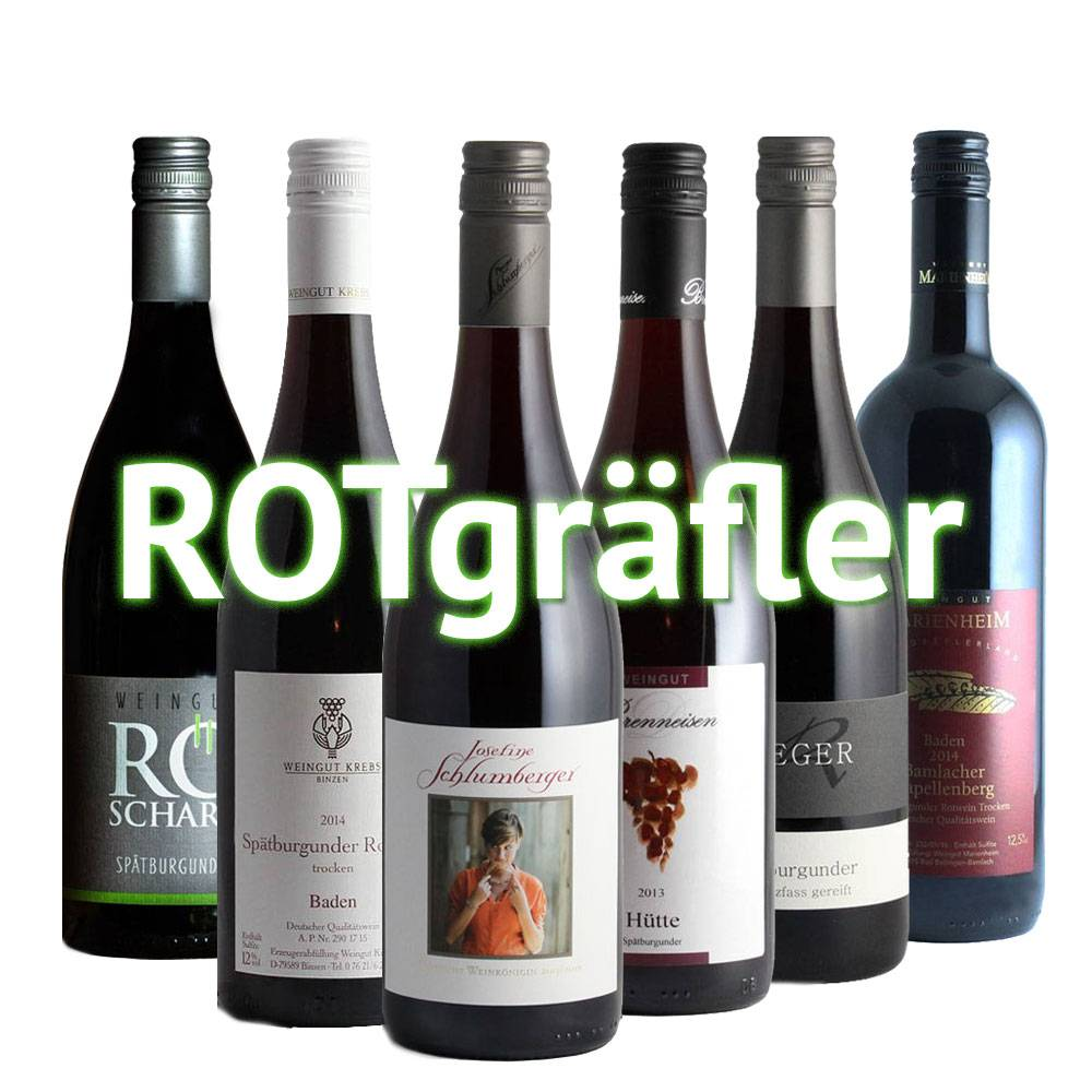 """ROTgräfler"" - 6er Monats-/Quartals-Weinabo"