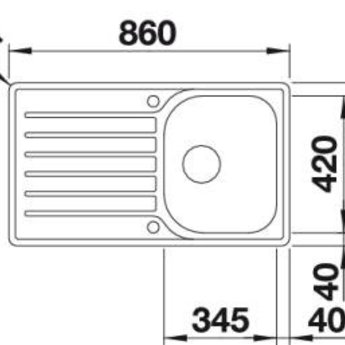 spoelbak rvs lantos 45 s if salto auto ikshop. Black Bedroom Furniture Sets. Home Design Ideas