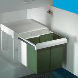 Naber Double 7. Afvalverzamelaars, wit/groen