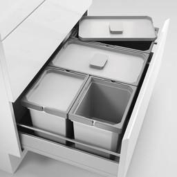 Naber Lade indeling - Cox - Box 220/800-4, Verzamelsysteem, licht grijs,