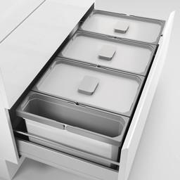 Naber Lade indeling - Cox - Box 220/900-3, Verzamelsysteem, licht grijs,