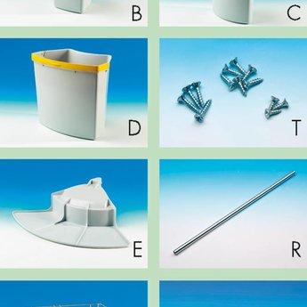 Afvalbak gescheiden inbouw - Cabbi 4. lichtgrijs
