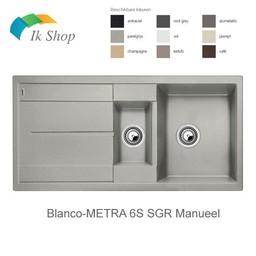 Blanco Spoelbak - Blanco-METRA 6S SGR Manueel