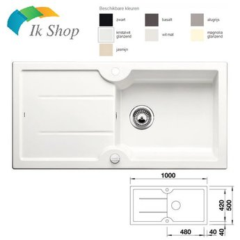 Blanco Keramiek Spoelbak - IDESSA XL6S CER  - Automatische bediening