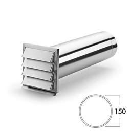Muurdoorvoer afzuigkap E-Klima E 150mm roestvrij staal