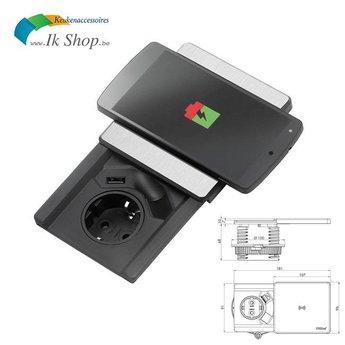 Evoline Square 80 1ST - Met USB én Qi deksel lader.