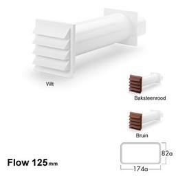 Naber Luchtafvoer Compair Flow K-Klima-R flow 125 muurdoorvoer