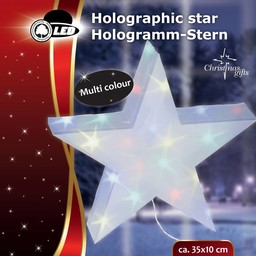 Holografische ster, meerkleurig 10 LED's