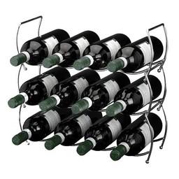 Stapelbaar wijnrek voor 12 flessen (3 delig)