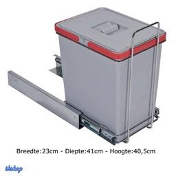 Elletipi Inbouw afvalemmer Ecofil 18L