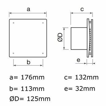 Badkamer afzuiging/ Toilet Design met timer