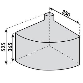 Afvalbak keukenCabbi junior 1 x 18 liter