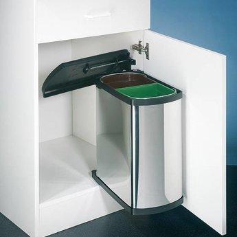 Afval scheiden prullenbakDuo - 16L (2x8) liter